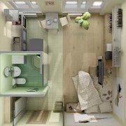 只有27平米,也能有一个功能区俱全的家